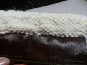 Пришиваем кожаные стороны